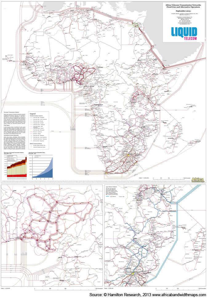 2013/4 Africa Telecom Transmission Map