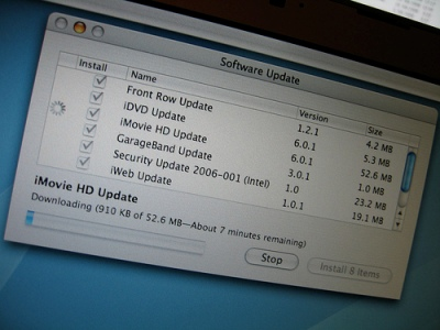 Software updates require steady Internet