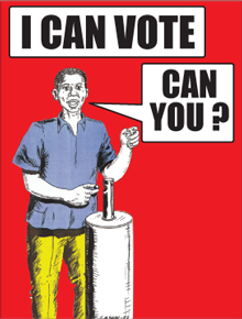 gamba election poster