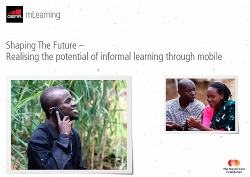 GSMA mLearning Report 2011