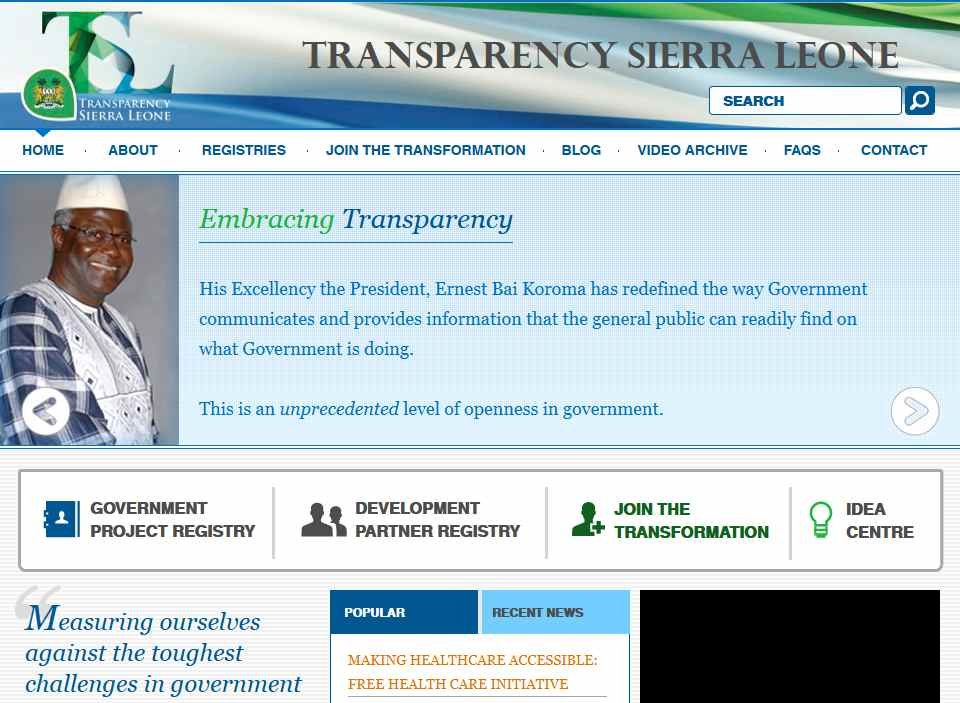 Transparency Sierra Leone