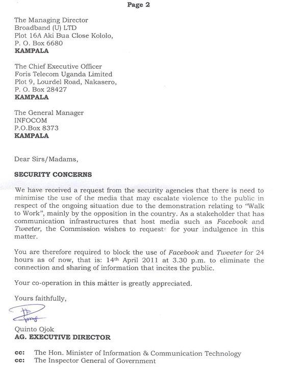 uganda ucc april 14 2011 social media