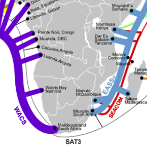 Southern Africa fibre cables
