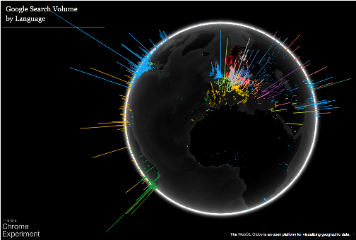 chrome experiments webgl globe
